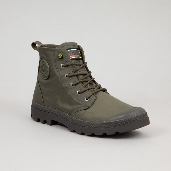 PALLADIUM Pampa Waterproof Boots with Recycled Materials in OLIVE NIGHT