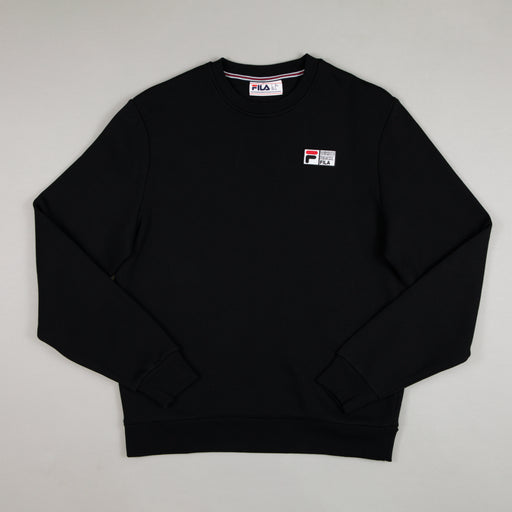 FILA Pelmo Embroidered Graphic Sweater in BLACK