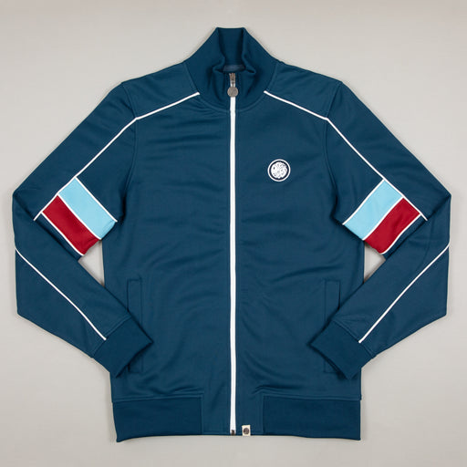 Piped Contrast Panel Track Top in NAVYPRETTY GREEN - CACTWS