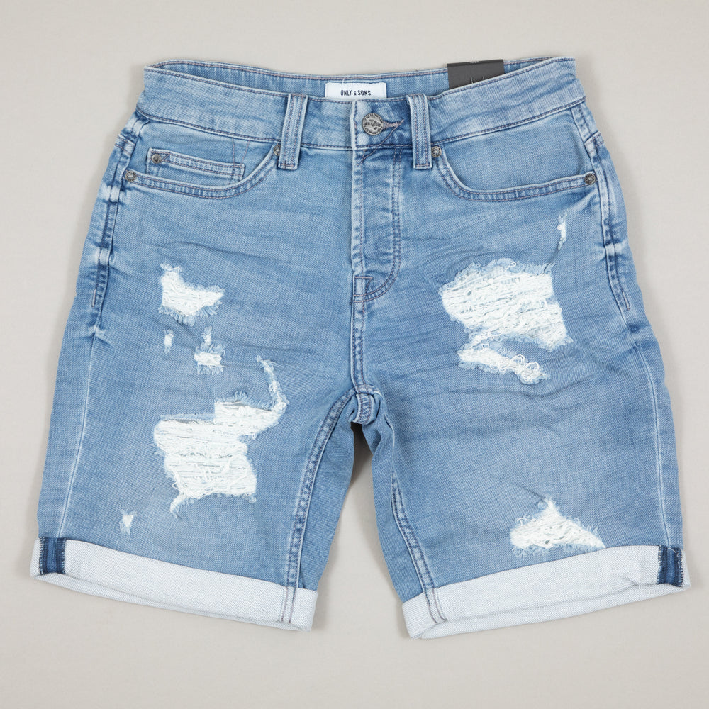 Ply Denim Shorts in BLUE DENIMONLY AND SONS - CACTWS