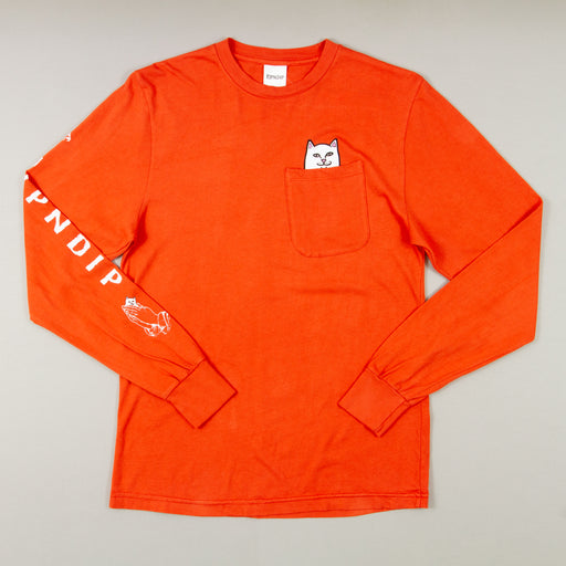 Lord Nermal Long Sleeve Tee in TEXAS ORANGERIPNDIP - CACTWS