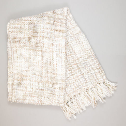 LIGHT & LIVING ROYKA Textile Throw in GREY SAND
