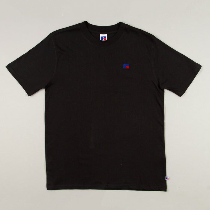 Heritage Baseliners T-Shirt in BLACKRUSSELL ATHLETIC - CACTWS