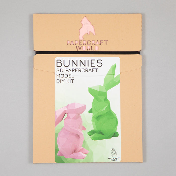 PAPERCRAFT-WORLD Rabbits in PINK & GREEN