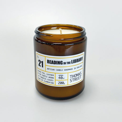 THOMAS STREET CANDLES #21 Reading in the Library Glass Candle (200g)