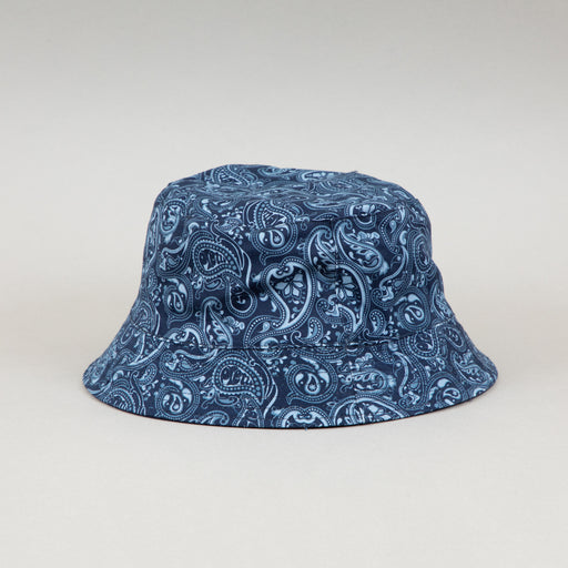 Reversible Bucket Hat in NAVY PAISLEYPRETTY GREEN - CACTWS
