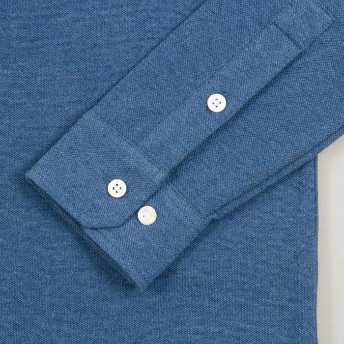 Ricky Long Sleeve Polo in DUSKY BLUE MARLFARAH - CACTWS
