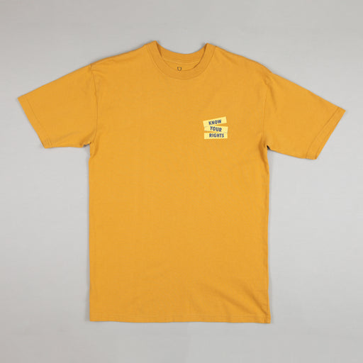 BRIXTON STRUMMER Know Your Rights Tee in MUSTARD