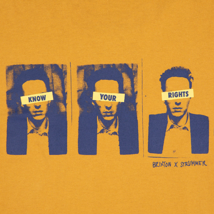 STRUMMER Know Your Rights Tee in MUSTARD