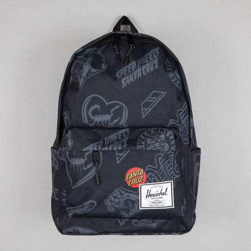 Santa Cruz Classic XL Backpack in BLACK SPEED WHEELS