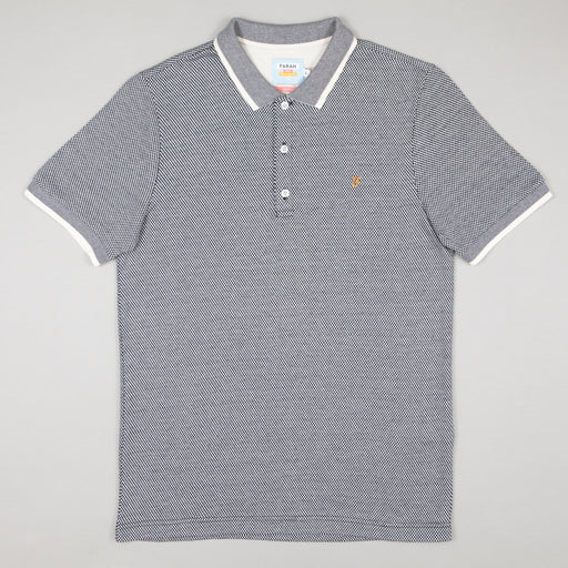 FARAH Scotchill Slim Fit Polo Shirt in TRUE NAVY