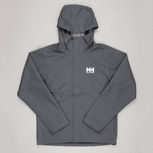 HELLY HANSEN Seven Waterproof & Windproof Jacket in CHARCOAL