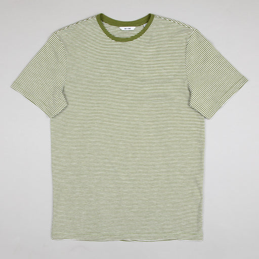 Simun Striped tee in PESTO