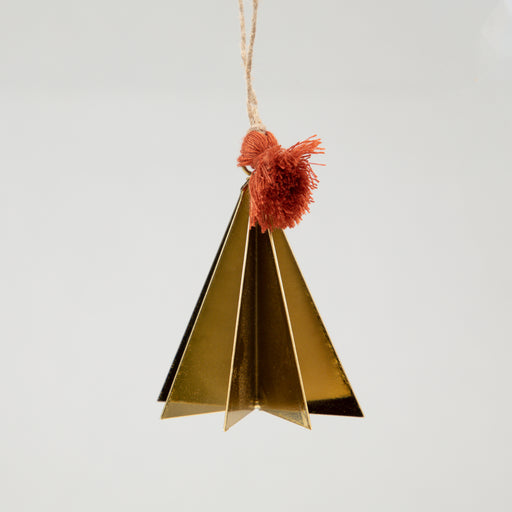Metal Hanging Christmas Decoration in ANTIQUE GOLD