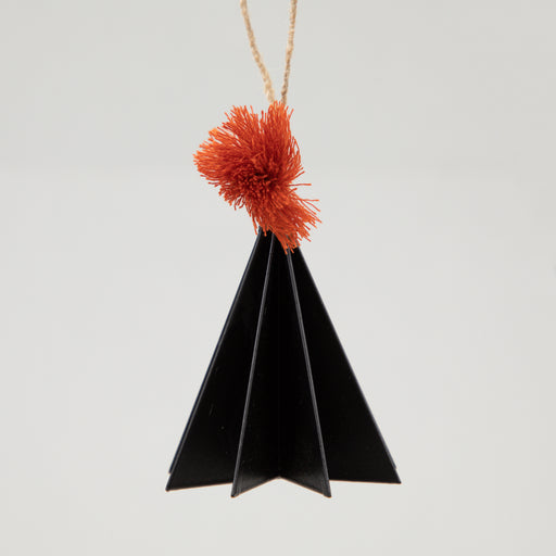 Metal Hanging Christmas Decoration in BLACK