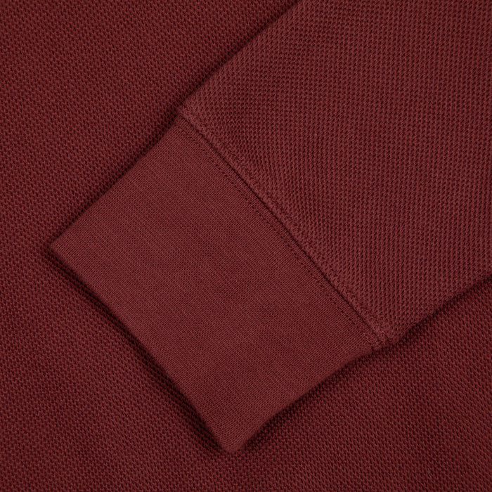 Spon Quarter Zip Sweater in FARAH BURGUNDY