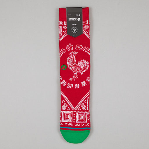 STANCE Sriracha Crew Socks in RED