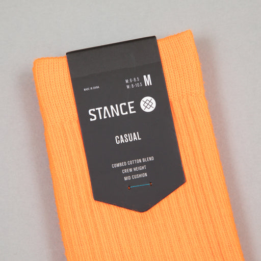 Staples Icon Socks in NEON ORANGE