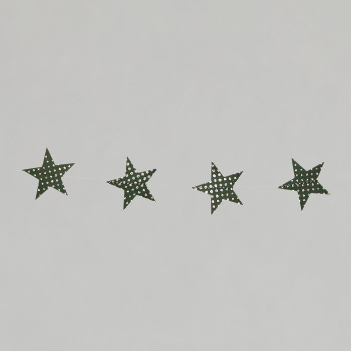 Star Garland Christmas Decoration in GREEN