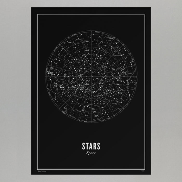 Stars Print in BLACK : 40 x 50 cm