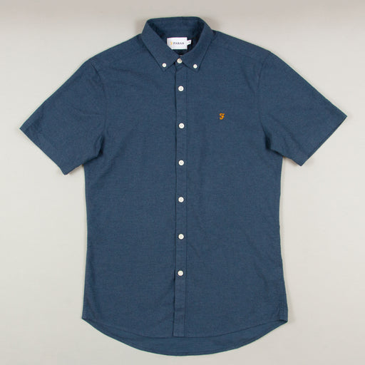 Steen Short Sleeve Shirt in FARAH TEAL