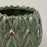 MADAM STOLTZ Stoneware Small Artichoke Planter in GREEN
