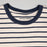 JACK & JONES Striped Short Sleeve Crew Neck Tee in WHITE MELANGE