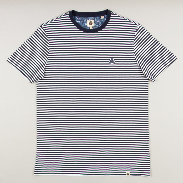 Striped T-Shirt in BLUEPRETTY GREEN - CACTWS