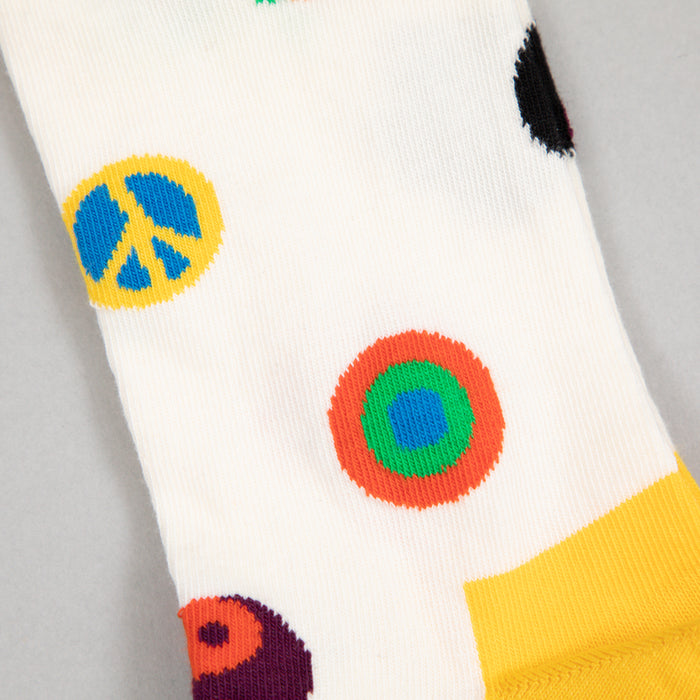HAPPY SOCKS Symbol Dot Socks in CREAM