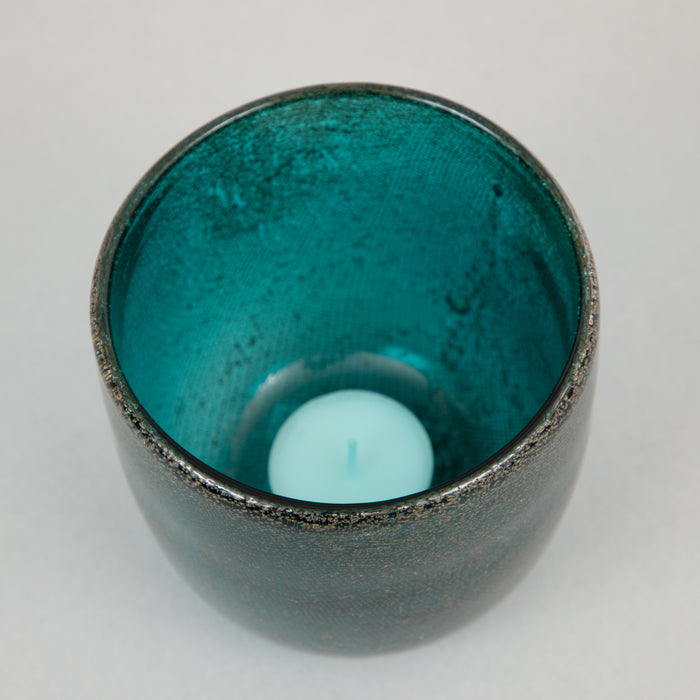 TATHRA Tealight holder in GLASS GREEN