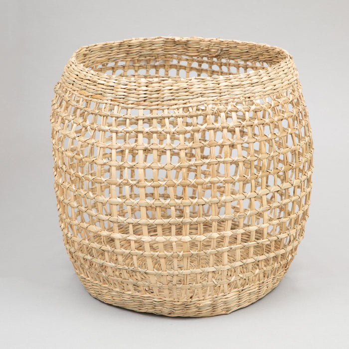 TUBAS Natural Woven Seagrass Baskets Set in LIGHT BROWN