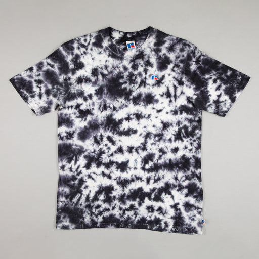 RUSSELL ATHLETIC Tie Dye T-Shirt in BLACK