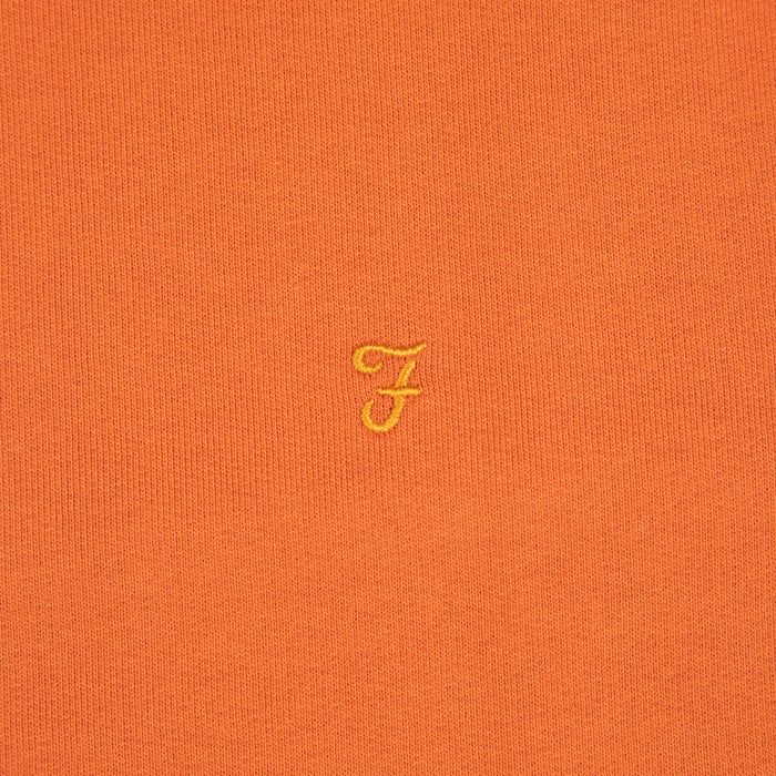 Tim Crew Neck Sweat in MOROCCAN ORANGEFARAH - CACTWS