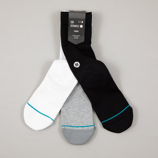 Uncommon Solids Icon 3 Pack Socks in MULTICOLOUREDSTANCE - CACTWS