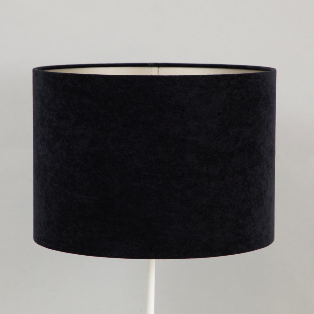 VELOURS Cylinder Shade in BLACK TAUPE
