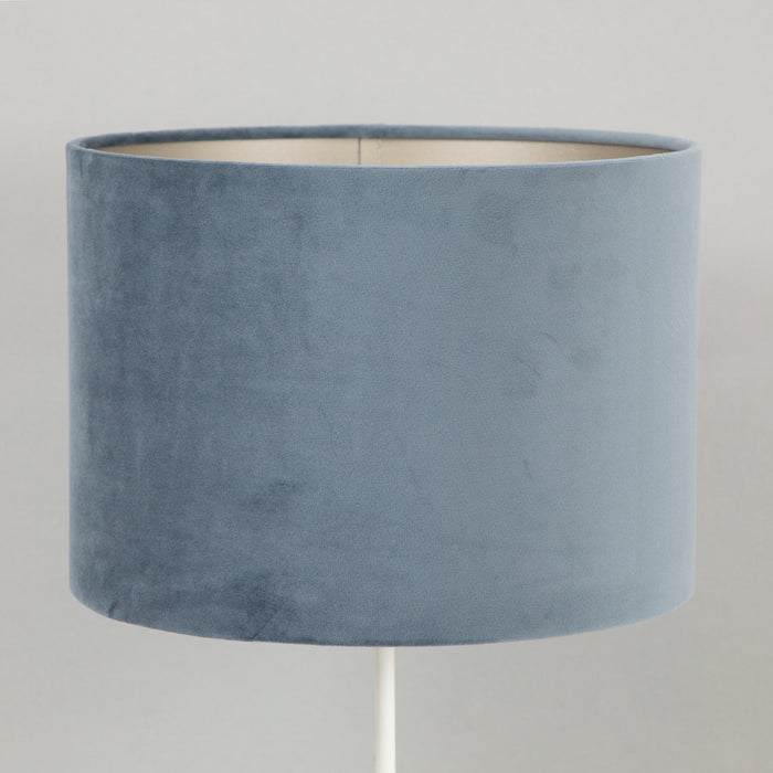 VELOURS Cylinder Shade in DUSTY BLUE