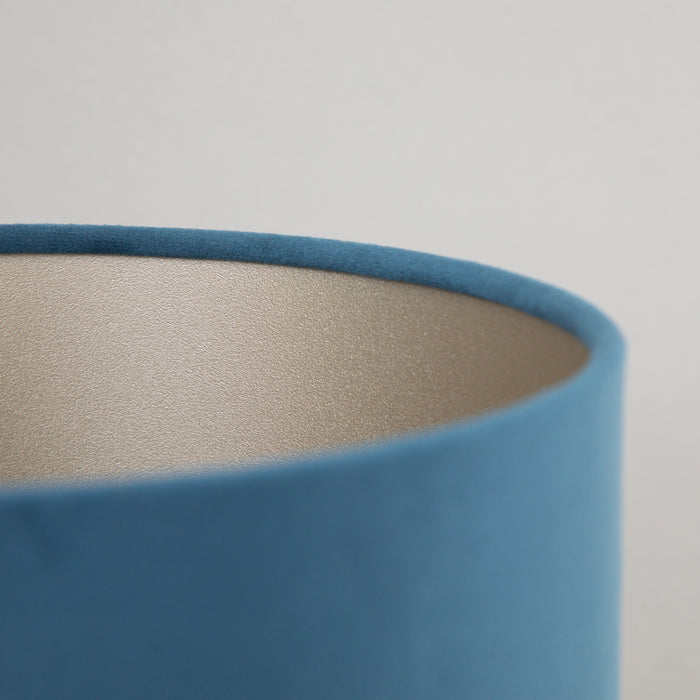 VELOURS Cylinder Shade in PETROL BLUE
