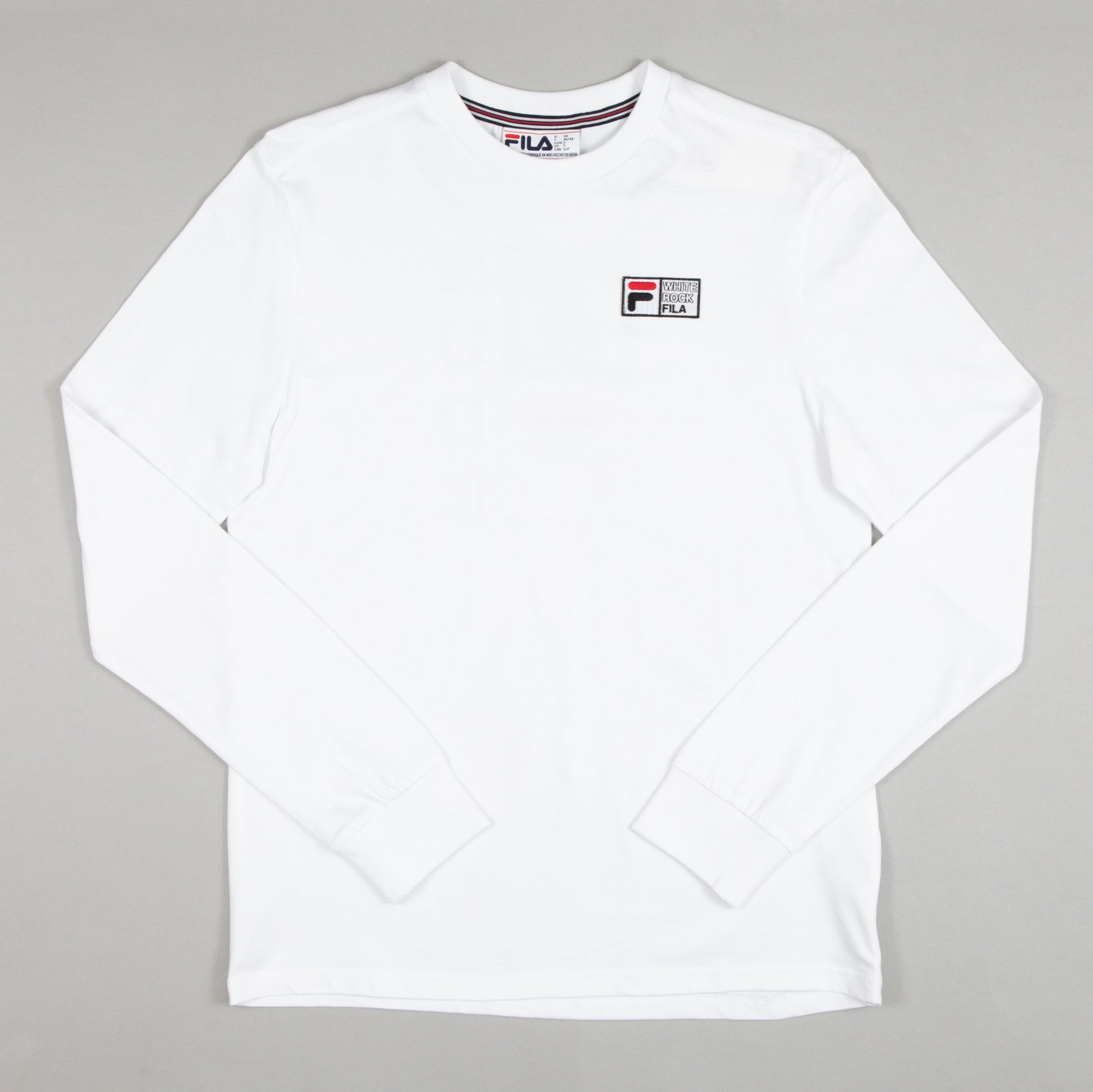 Vesuvius Graphic Long Sleeve Tee in WHITE