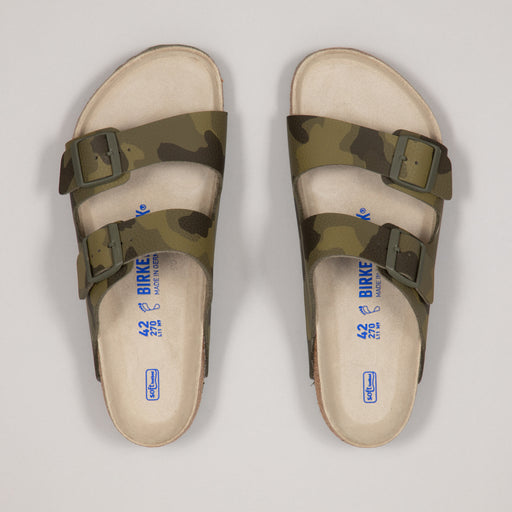 BIRKENSTOCK Arizona Soft Footbed Birko-Flor Sandals in DESERT SOIL CAMO GREEN