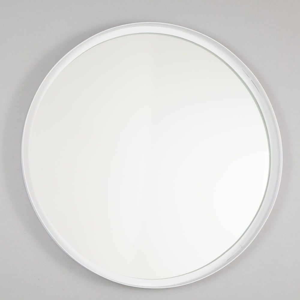 LIGHT & LIVING BITA Round Wall Mirror in WHITE