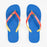 HAVAIANAS Brasil Mix Flip Flops in WHITE & BLUE STAR
