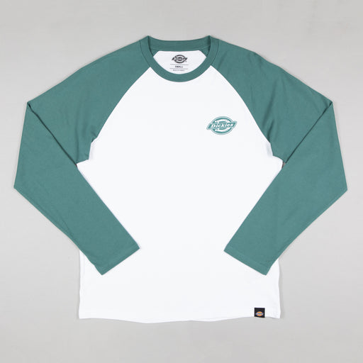 DICKIES Cologne Baseball Long Sleeve T-Shirt in LINCOLN GREEN