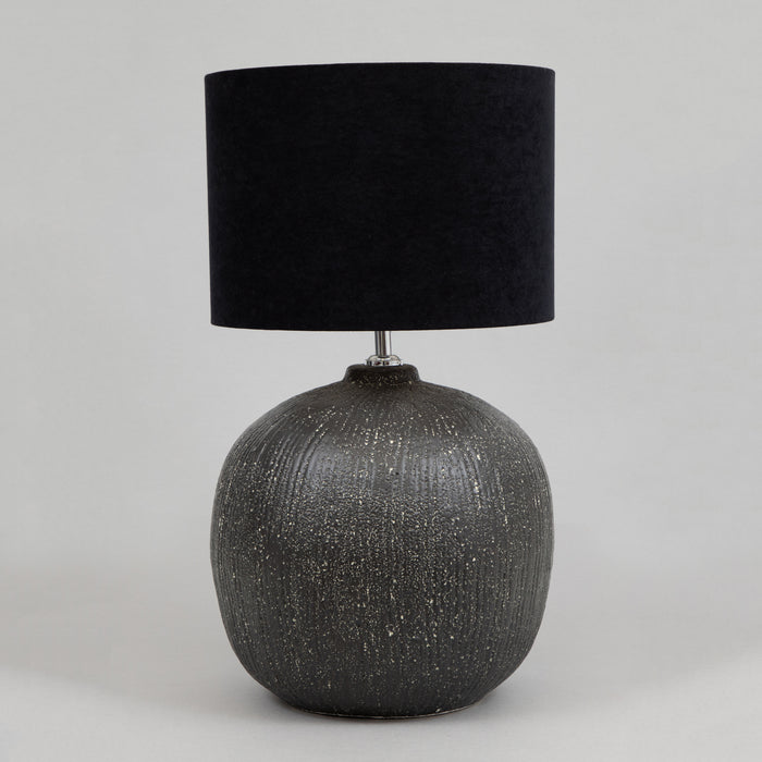 LIGHT & LIVING DUNCAN Ceramic Lamp Base in BLACK