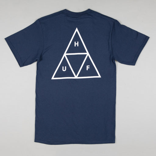 HUF Essentials Triangle Logo Short Sleeve T-Shirt in NAVY