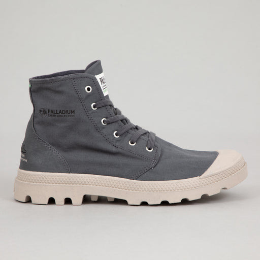 PALLADIUM Pampa Hi Organic Canvas Boots in ASPHALT BLUE