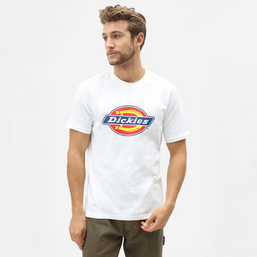 DICKIES Icon Logo Horseshoe Short Sleeve T-Shirt in WHITE