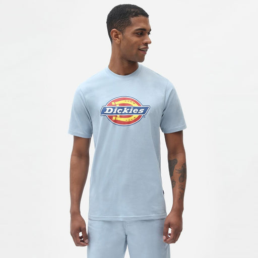 DICKIES Icon Logo T-Shirt in FOG BLUE