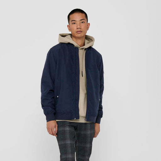 ONLY & SONS Jack Bomber Jacket in NAVY NIGHT SKY