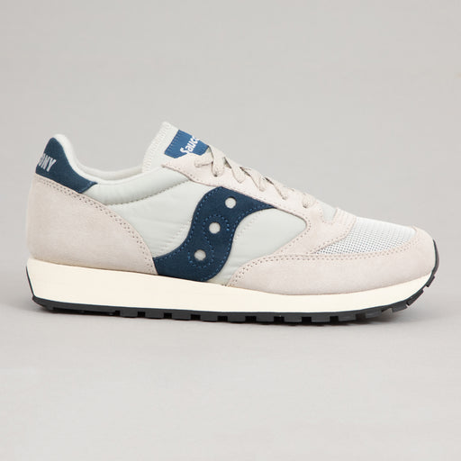 SAUCONY Jazz Original Vintage Trainers in TAN & MARINE BLUE