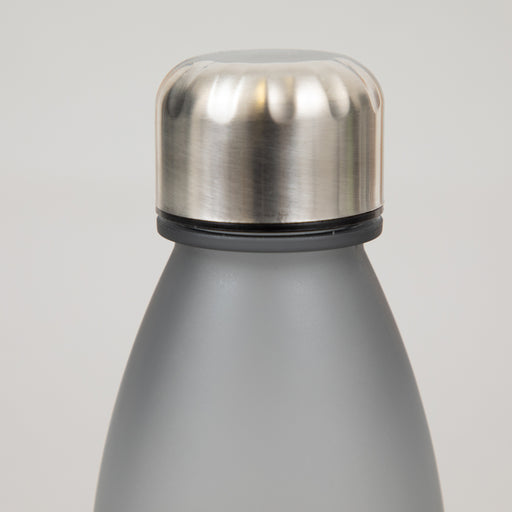 Ion8 Leak Proof Screw Cap Water Bottle in FROSTED GREY (500ml)